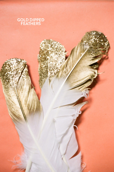 DIY Craft of the Week: Gold Dipped Feathers